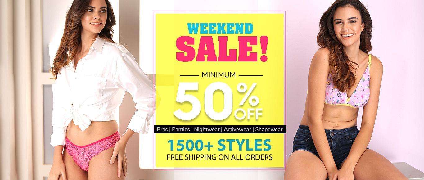 clovia.com - Weekend Sale – 50% OFF on all products