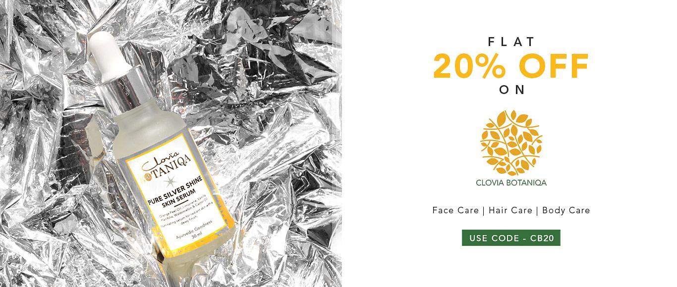 clovia.com - Get Flat 20% Discount on Botanica Body Care