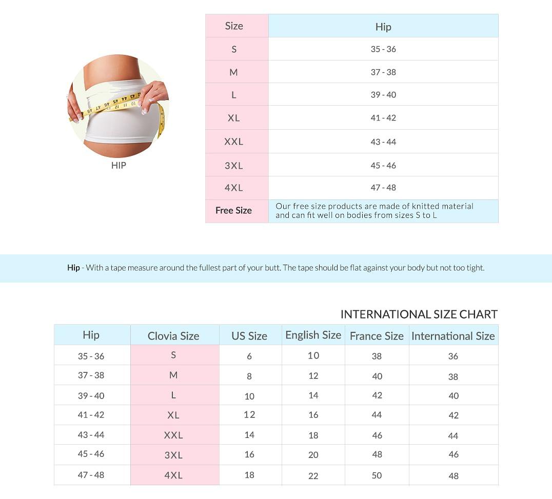 women size chart 2